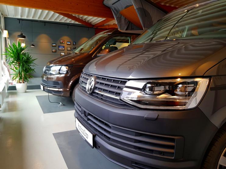 VW T6 Camper in der Ausstellung