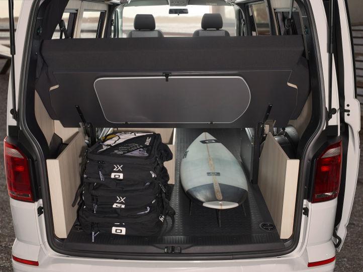 VW T6 Custom-Bus Purist mit Stauraum und Durchlade